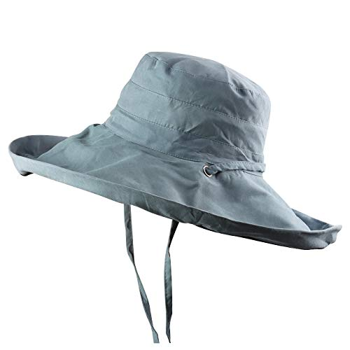 FaroDor Wendehut für Damen, UV-Schutz, breite Krempe, faltbar - -...