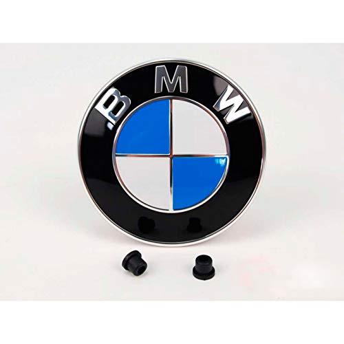 Emblem für die Motorhaube oder Hecklappe 82mm Weiß Blau mit 2 Tüllen für...