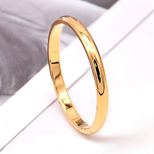 YUEKUN Einfache 2 MM Dünne Titan Stahl 4 Farbe Paar Ring Einfache Mode Rose...