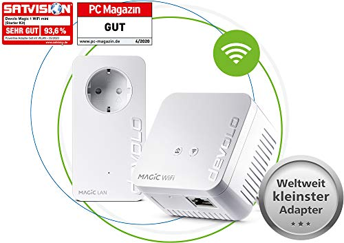 devolo Magic 1 - 1200 WiFi mini Starter Kit dLAN 2.0: Ideal für Home Office und...