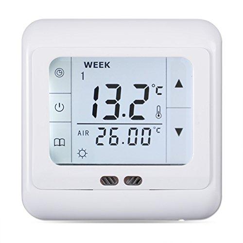 FLOUREON digital Thermostat 3A Raumthermostat programmierbar...