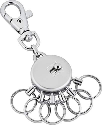 Schlüsselanhänger Kingsport aus Metall mit 6 abnehmbaren Ringen von Jadani…