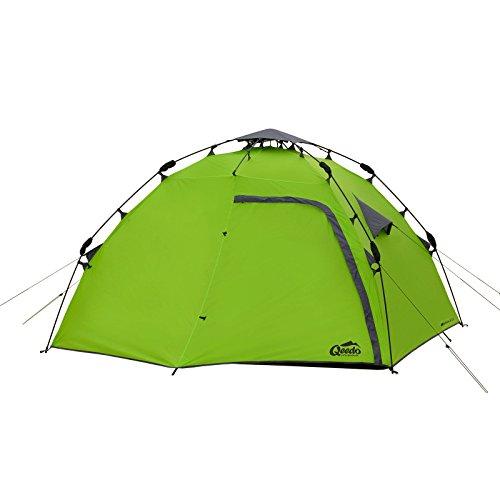 Qeedo 4 Mann Sekundenzelt Quick Maple 4, Campingzelt mit Quick Up System,...