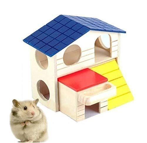 YAOGZ Natürliche Holz Faltbare Zwei Schichten Igelhaus Hamster Spielzeug...