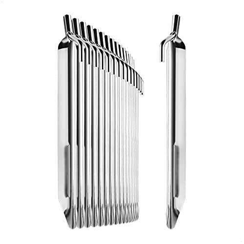 com-four® 16x Zelt-Heringe aus Stahl - robuste Erdnägel in V-Form für Camping...