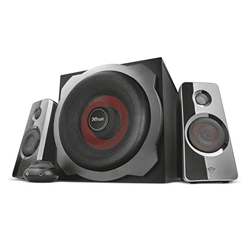 Trust GXT 38 2.1 Gaming Lautsprechersystem mit Subwoofer (für Smartphone/PC-...