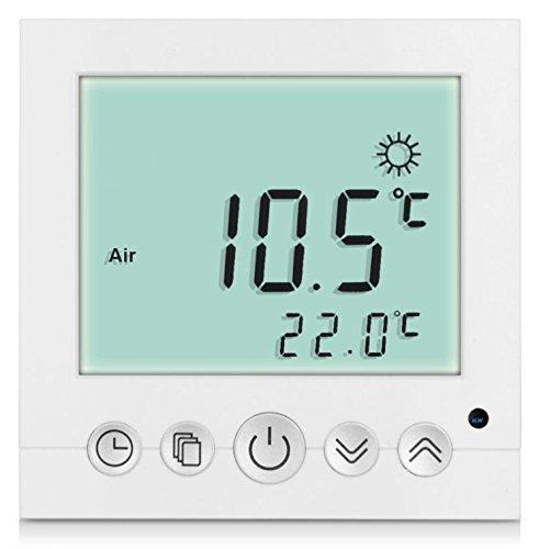 SM-PC, Digital Thermostat Raumthermostat Fußbodenheizung Wandheizung LED weiß...