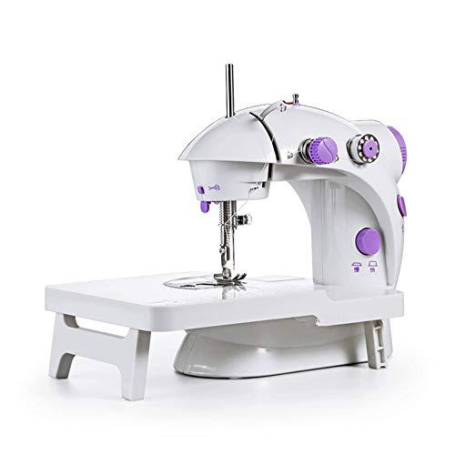 AJH Home Nähmaschine Mini mit Anschiebetisch Fußpedal elektrische Nähmaschine...