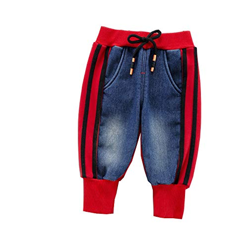 HOSD Winter Kinder Plus Samt Hose Jungen dicke Füße Jeans Mädchen Casual Plus...