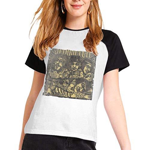 Jethro Tull Womens Short Sleeve Raglan Baseball T-Shirts Cotton Casual Print...