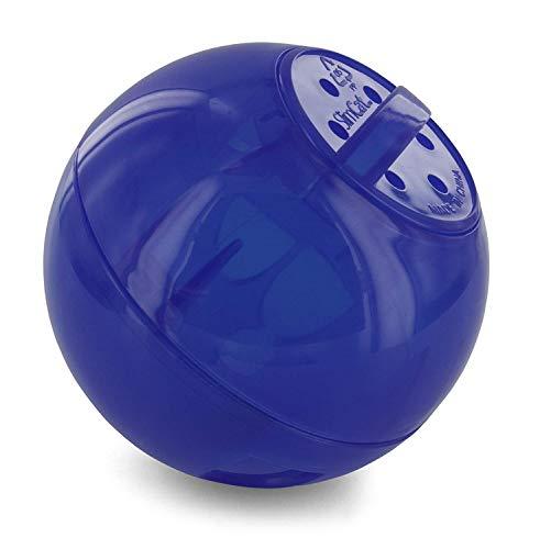 PetSafe SlimCat Snackball blau, für 150ml Trockenfutter, Futterball für Katzen...