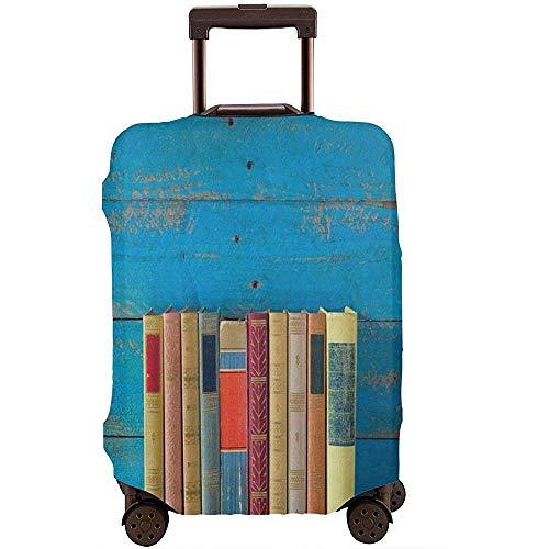 Reisegepäck-Abdeckung Nette Reihe Büchern Front of Grungy Blue getönten Farbe...