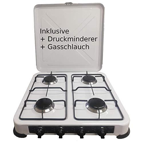 Camping Gaskocher Hochwertiger 4 flammiger Kocher Campingkocher  / Lieferung...