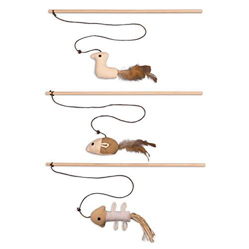ecoworks Premium Katzenspielzeug |natürliche robuste Spielangel mit Maus |...