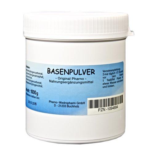 Basenpulver -Original Pharno- 1000 g Ohne Zusatzstoffe, Lactosefrei und frei von...
