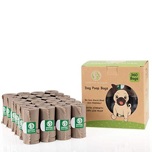Greener Walker Hundekotbeutel für Hundeabfälle, extra dick, stark, 100 %...