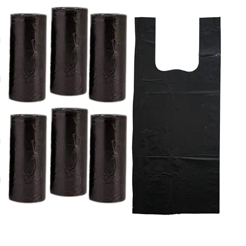270 x schwarze, abbaubare Hundekotbeutel auf Rolle, Taschengröße,...