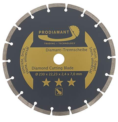 PRODIAMANT Diamant-Trennscheibe 230 x 22,2 mm - Beton, Stein, Ziegel, universal...
