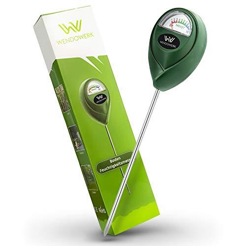 WENDOWERK® Boden Feuchtigkeitsmesser für Pflanzen - [Grün/Schwarz] - Ohne...