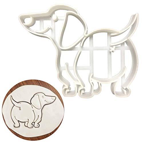 Ausstechform mit lächelndem Dackel, süßer Hund, Form