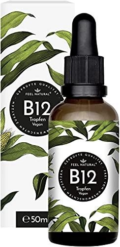 Vitamin B12 - 50 ml (1750 Tropfen) - Mit beiden aktiven Formen Methyl-&...
