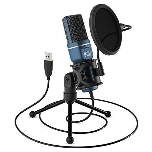 TONOR PC Mikrofon USB Computer Kondensatormikrofon Gaming Mikros Plug & Play mit...