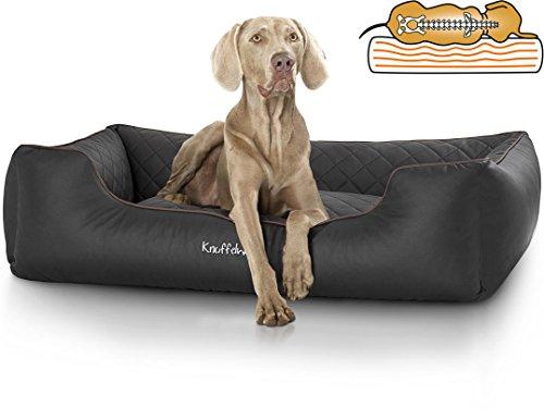 Knuffelwuff orthopädisches Hundebett Madison aus Kunstleder Hundekorb Hundesofa...