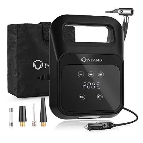 OneAmg Luftkompressor, 12V Auto Kompressor 150PSI Portable Auto Reifen Inflator,...
