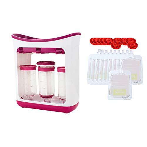 Luccase Babynahrung Squeeze Hersteller mit 3 Flasche Kit DIY Fruchtpüreepresse...