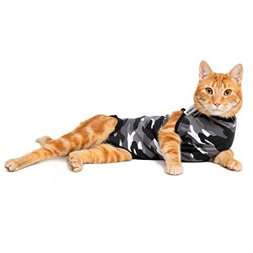 Suitical Regenerationsanzug für Katzen, Größe XS, Schwarz
