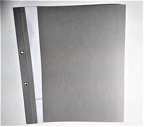 Ösenmappe, DIN A4 mit transparent satinierter Vorderseite, Rückseite...