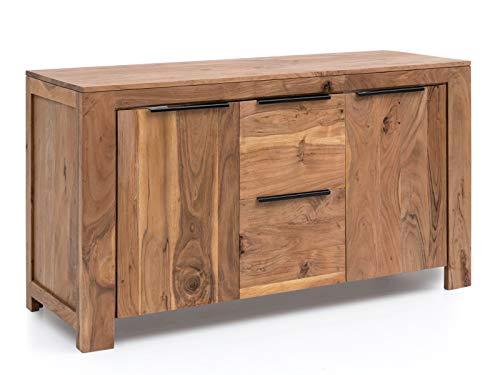 Woodkings® Waschtisch Auckland Holz Akazie massiv Waschtischunterschrank für...