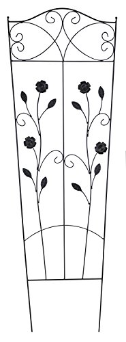 Metall Rankgitter B - mit Blumen