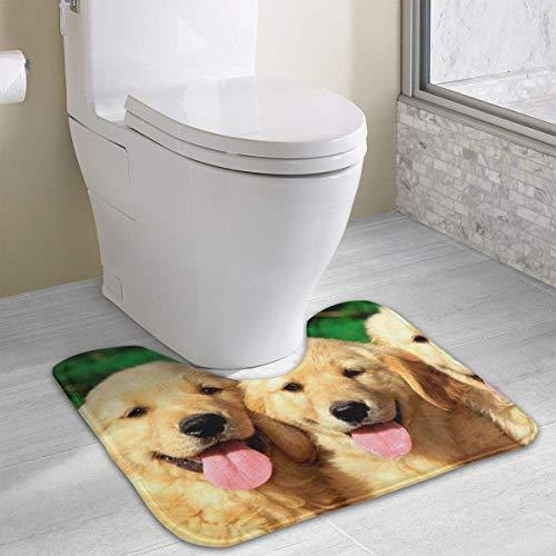 Chimmy95 Golden Retriever mit lächelndem Gesicht Hundetoilette Badematte...