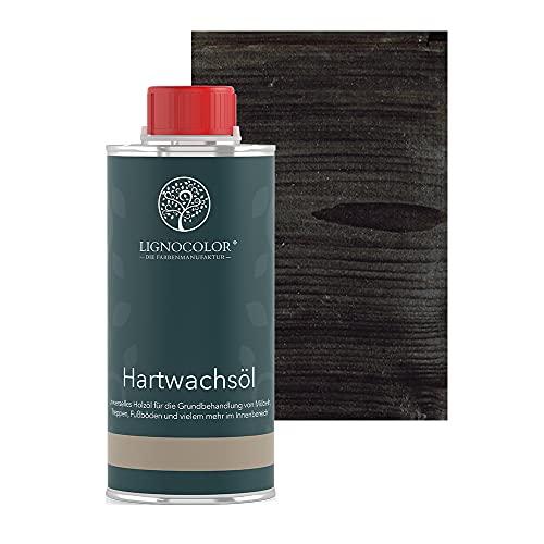 Lignocolor Hartwachsöl (250 ml, Schwarz) Holzöl für den Innenbereich
