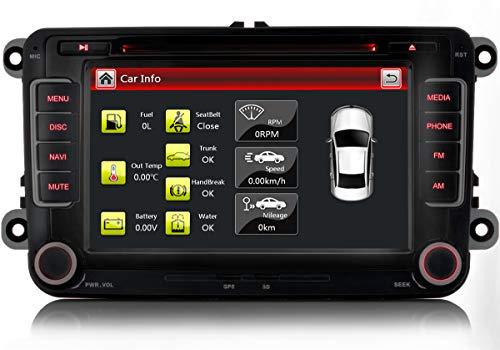 Xgotogo 7 Zoll Autoradio mit DVD CD Player/GPS/FM/AM/Bluetooth/USB/SD, Radio...