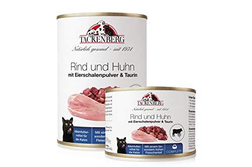 Tackenberg Katzenfutter, Nassfutter (Rind, Huhn, Eierschalenpulver, Taurin)...