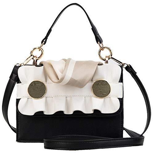 ABO Damen-Handtasche, kleine Umhängetasche, Blumenmuster, Messenger-Tasche für...
