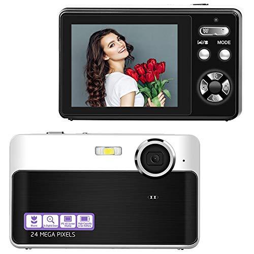 Lincom Digitalkamera Kompaktkamera 24MP Fotoapparat Digitalkamera 2,4 Zoll...