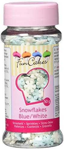 FunCakes Zuckerstreusel Schneeflocken, Weiß/Blau