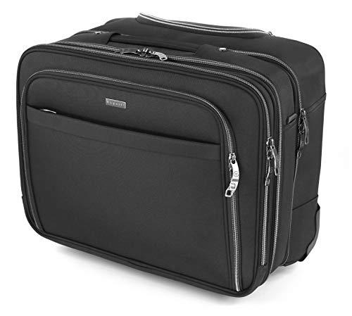 """Bugatti Business Deluxe Laptop Koffer 15"""", Handgepäck Trolley mit Rollen,..."""