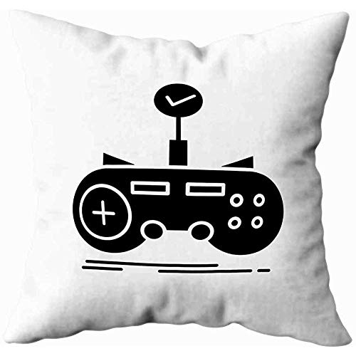 Bue Time Quadratische Throw Pillowcase Check Controller Spiel Gaming Glyph...