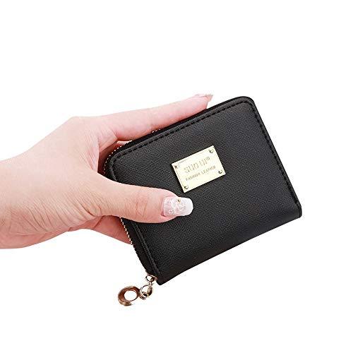 Btruely Umhängetasche Damen Schwarz Frauen Leder kleine Brieftasche...