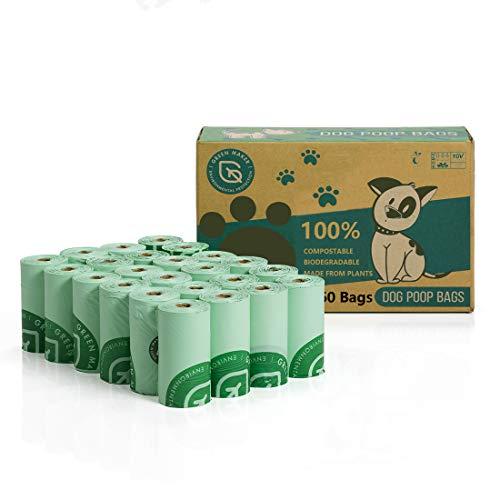 Green Maker 100% kompostierbare Hundekotbeutel 360 Beutel Biologisch abbaubare...