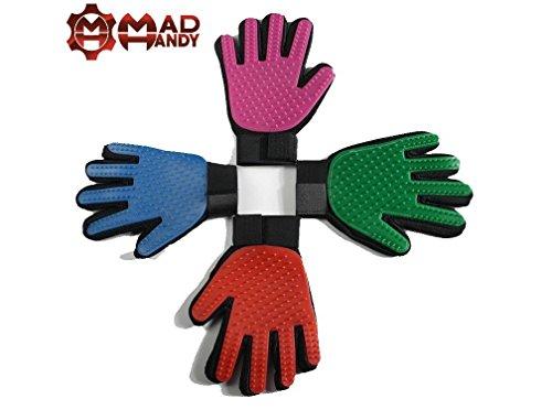 MAD HANDY Fellpflege-Handschuhe, 1 rechts + 1 Bonus rechts, Rosa, 1 Stück