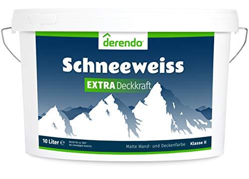 Derendo Schneeweiss Extra - 10l matte Innenfarbe weiß - Deckenfarbe - sehr hohe...