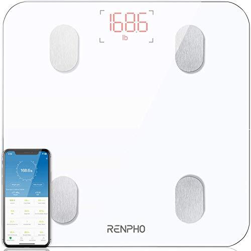 RENPHO Körperfettwaage, Bluetooth Personenwaage mit App, Smart Digitale Waage...