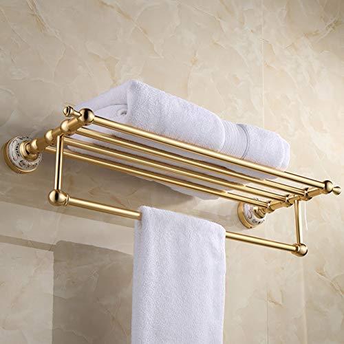 BAIVIT Goldene Aluminium Bad Handtuchhalter Europäischen Wand Hotel...