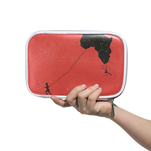 LORONA Kinder Federmäppchen Afrika, Kenia, Peace-Flagge, Kosmetiktasche, große...