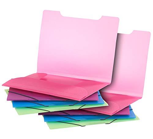 General Office Gummizugmappen: 8er-Set Eckspanner-Einschlagmappen mit Gummizug,...